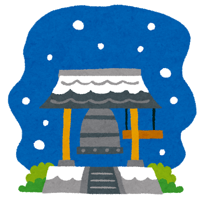 除夜の鐘_雪